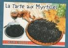 CARTE RECETTE - La Tarte Aux Myrtilles - 10.5 X 15 - ESTEL - Unclassified