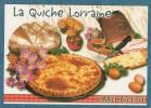 CARTE RECETTE - La Quiche Lorraine - 10.5 X 15 - ESTEL - Unclassified
