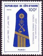 Timbre-poste Neuf** - N° 716 (Yvert) - N° 860 (Michel) - Forces Armées Nationales. Armée De Terre - RCI 1985 - Ivoorkust (1960-...)