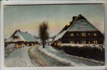 Novelty - Winters Scene - Hold To Light  / HTL- Postcard 1907 - Hold To Light