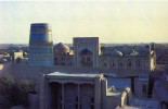 17277   Uzbekistan (USSR),  Khiva,  Ichan-Kala The Old Part Of The  City,  The Kunya-arq Citadel With The Madrassah,  NV - Uzbekistan