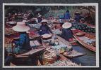 CPSM THAILANDE - MARCHE FLOTTANT - PROVINCE DE RAJBURI - Voyagee - - Tailandia