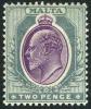 Malta #33 Mint Hinged 2p Grey & Red Violet King Edward VII From 1904 - Malta (...-1964)