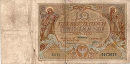 Poland 10 Zlotych 1929 F VF Banknote P-69 - Poland