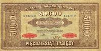 POLAND 50,000 50000 Marek 1922 See Scan - Poland