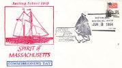 Etats Unis - Lettre Bateaux De 1984 - Spirit Of Massachusetts - Oblitération Boston - Etats-Unis