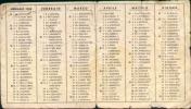 70471)calendario Anno Domini 1958 Anno 1958 - Calendriers