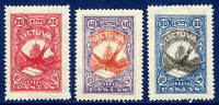LITHUANIA 1926. Airmail Set Of 5 MNH / **..  Michel 243-45 - Lituania
