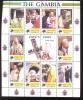 MINT NEVER HINGED MINI SHEET OF POPE JOHN PAUL II   # 107-1*  ( GAMBIA   2223** - Christentum