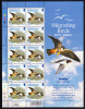 Alderney Scott #185 MNH Minisheet Of 10 22p Hobby - Migrating Birds - Alderney