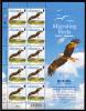 Alderney Scott #186 MNH Minisheet Of 10 27p Black Kite - Migrating Birds - Alderney