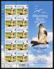 Alderney Scott #188 MNH Minisheet Of 10 40p Honey Buzzard - Migrating Birds - Alderney