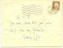 Envellope Obliteration Mécanique 1961  PARIS XVIII Rue DUC .envoyé Par Yves MAUPETIT. - Marcophilie (Lettres)