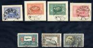 LITHUANIA 1921 Airmail Set Of 7 Used,  Michel 102-108 - Lituania