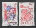 PAIRE OBLITEREE DE FRANCE - EUROPA 1980 : PERSONNAGES CELEBRES N° Y&T 2085/2086 - 1980