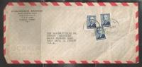 1950 Commercial Postal History (2 6) Three 20k Ataturk, Beyoglu To USA - Covers & Documents