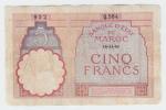 Morocco 5 Francs 14-11-1941 P 23Ab 23A B - Marruecos