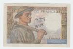 FRANCE 10 FRANCS 1943 AXF P 99e 99 E - 1871-1952 Circulated During XXth