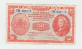 Netherlands-Indies 50 Cents 1943 VF+ P 110a 110 A - Nederlands-Indië