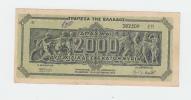 GREECE 2000 MILLION DRACHMAI 1944 P 133b 133 B - Greece