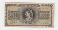 Greece 1000 Drachmai 1942 VF P 118 - Greece