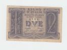Italy 2 Lire 1939 VF CRISP Banknote P 27 - [ 1] …-1946 : Kingdom