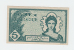 Algeria 5 Francs 16-11- 1942 UNC (with Defects On The Back - Please See Scan) CRISP Banknote P 91 - Algeria