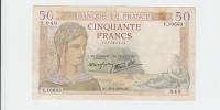 France 50 Francs 1939 VF Crispy Banknote P 85b 85 B - 50 F 1934-1940 ''Cérès''