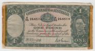 Australia 1 Pound 1942 AVF Crispy Banknote P 26b 26 B - WWII Issues