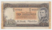 Australia 10 Shillings 1961-65 VF RARE Banknote P 33 - Pre-decimaal Stelsel Overheidsuitgave 1913-1965
