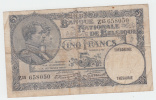 Belgium BELGIQUE 5 Francs 1931 VG P 97b 97 B - [ 2] 1831-... : Belgian Kingdom