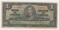 "Canada 1 Dollar 1937 Gordon-Towers """"VG"""" P 58d 58 D - Canada"