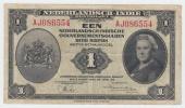 NETHERLANDS INDIES 1 GULDEN 1943 VF CRISP Banknote P 111 - Niederländisch-Indien