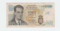 Belgium BELGIQUE 20 Francs 1964 VF P 138 - [ 2] 1831-... : Belgian Kingdom