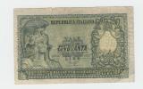 "ITALY 50 Lire 1951 ""VG"" P 91a 91 A - [ 2] 1946-… : Républic"