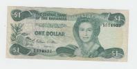 """BAHAMAS 1 Dollar L 1974 ( 1984 ) """"""""F+"""""""" P 43a 43 A - Bahamas"""