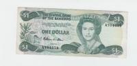 """BAHAMAS 1 Dollar L 1974 ( 1984 ) """"""""VF+"""""""" P 43a 43 A - Bahamas"""