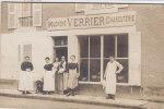 Devanture De La Boucherie - Charcuterie VERRIER - Très Belle Carte PHOTO. - A Identifier