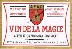 PRESTIDIGITATION - Étiquette VIN  DE  LA  MAGIE De L´A.F.A.P. (Rare) - Weisswein