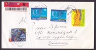 Argentina Registered Recommandée Einschreiben Mult Franked Beauty Cover 2001 To COPENHAGEN Denmark - Argentinien