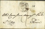 1216 PREFILATELICA RAVENNA BAGNACAVALLO GONFALONIERE X FERRARA 1848 CON TESTO - 1. ...-1850 Prephilately