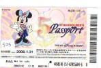 Disney * PASSPORT * Entreecard JAPON * TOKYO DISNEYLAND (523) STOCKHOLDERS Passeport * MICKEY JAPAN PASS * CINEMA *FILM - Disney