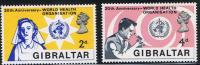 Gibraltar 1968 #215-216 Medicine WHO 20 Years Of World Health Organization MNH - Gibraltar