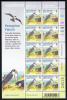 Alderney Scott #143 MNH Minisheet Of 10 26p With Prey - Peregrine Falcon - Alderney