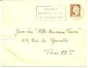 """Envellope Obliteration Flamme Mécanique """"1961 """"BELVES Belvedere Médiéval Du Périgor Noir"""" Mme Lydie Thieés Sagelat. - Postmark Collection (Covers)"""