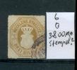 MECKLENBURG-STRELITZ. Mi. Nr. 6 Gestempelt. 3.800 Michel-Mark. Siehe Text. MK - Mecklenburg-Strelitz