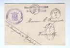 955/17 -  Carte De Service ROCHEFORT 1918 Vers WAVREILLE - Cachet Administration Communale - Censure DINANT - [OC1/25] Gov. Gen..