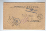 973/17 -  Lettre En Franchise DUFFEL 1916 Vers EDEGEM - Cachet Bestuur Van DUFFEL - Censure ANTWERPEN - [OC1/25] Gen. Gouv.