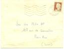 """Envellope Obliteration Mécanique 1961 """"VANNES Morbihan"""" Jeu Des 1000 NF. Françoise LE GAL. - Marcophilie (Lettres)"""