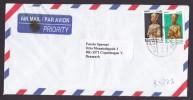 Egypt Egypte Airmail PYRAMID OILFIELD SUPPLY Co. 1998 Cover To COPENHAGEN Denmark Farao Tut-Ankh-Amun & Cachet - Airmail